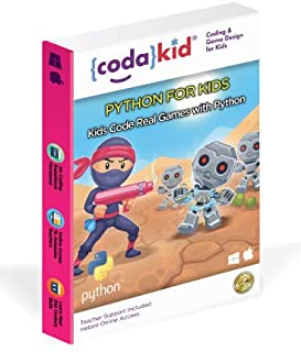 Code Python, Award-Winning STEM Courses, Coding for Kids, Ages 10+ with Online Mentoring Assistance, Learn Computer Programming and Video Game Design, Code Amazing Games with Python (PC & Mac)