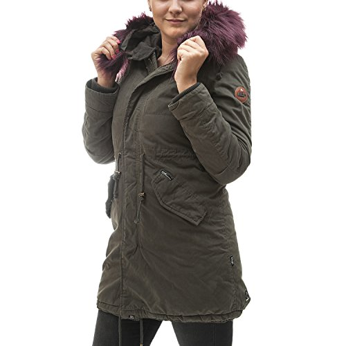 khujo Damen Methone Parkas, Grün (Olive 320), Medium