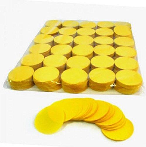 Mondial-fete - 100 gr confettis papier rond jaune 5 cm