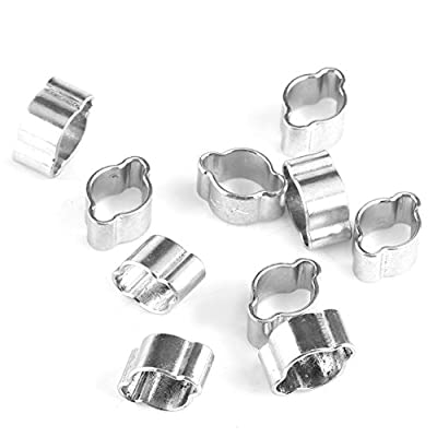 20 Pcs Two-ear O Clip Hose Clamp 5mm-13mm,Zinc Plated Stainless Steel Hose Clips Tube Clamps for Automobile Fule Petrol Pipe Air Hose Water Pipe Fastener Clips