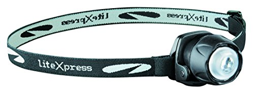 LiteXpress Liberty 105 schwarz, Kopflampe/Stirnlampe, 1 LED Nichia ø 5mm (Standard), Clip