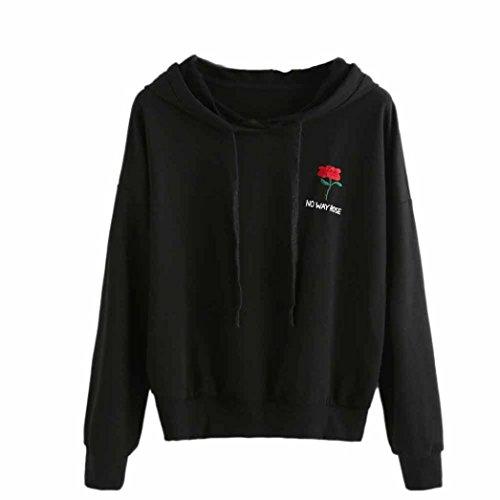 Hoodie sweatshirt Dasongff dames borduurwerk decoratie lange mouwen capuchon sweater bovenkant zwarte capuchonpullover drawstring-sweatshirt
