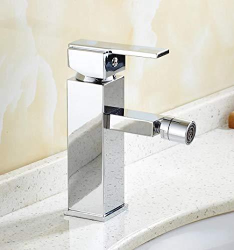 Material monomando cromado grifo de bidé de baño frío y caliente grifo de bidé de lujo mezclador de bidé