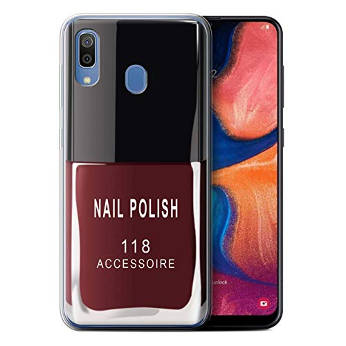 eSwish Gel TPU hoes/case voor Samsung Galaxy A20e 2019 / rood patroon/nagellak/make-up collectie
