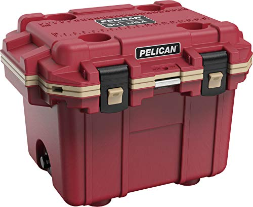 Pelican Elite 30 QT Cooler (Canyon Red/Coyote)