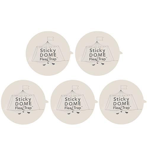 Gosear 5 Fogli di Ricambio della Trappola per Le Pulci Ricarica Colla Sticky Discs Pads per La Casa Camera da Letto Soggiorno Corridoio Pet House Carpet A
