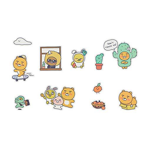 KAKAO FRIENDS - Happy Weeks Verwijderbare Decoratie Sticker voor Dagboek Notitieboek Phonecase Leuke Karakter (Ryan)