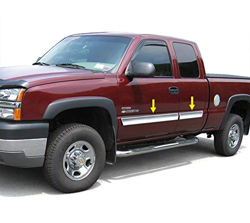 2pc Chrome Window Moldings for 00-06 Chevy Silverado RegCab