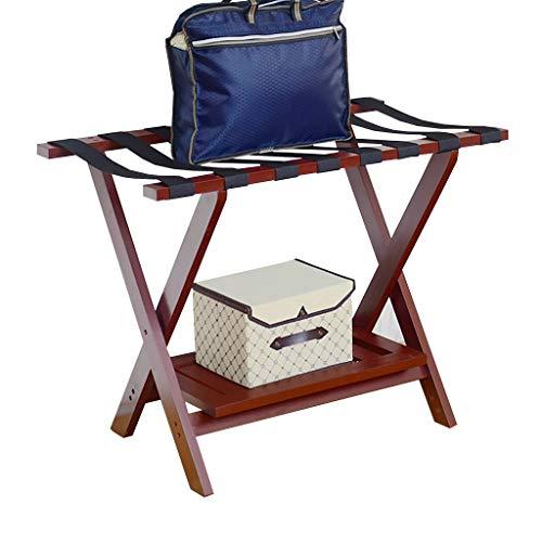 CYY Luggage Rack Kofferständer Gepäckträger, Hotelzimmer Faltbare Massivholz Kofferhalter, Gepäckträger Regale Koffer Rucksack, 80 * 45 * 60 cm