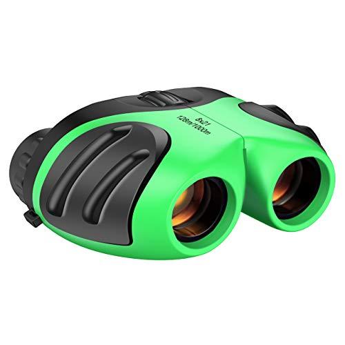 KITY Geschenke für Jungen 5-12 Jahre,Fernglas für Kinder 8x21 Ferngläser Klein Kompakt Teleskope Wasserdicht Feldstecher - Weihnachten Geschenk für Kleine 3-12 Jährige Mädchen Spielzeug(Grün)