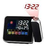 Alaso Réveil en Ligne,Reveil Matin,Réveil de Voyage, Réveil à Projection Plafond Digital Thermomètre Hygromètre pour Chambre...