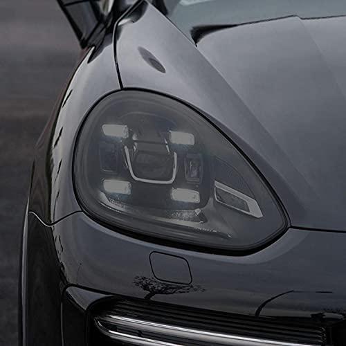 YYHHADM Car Headlight Protective Film Taillight Smoked Black Tint Wrap Vinyl Transparent TPU Sticker,for Porsche Cayenne 2015 2016 2017
