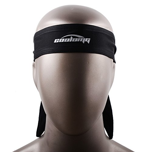 COOLOMG Stirnbaender Headband für Basketball Fußball Elastisch Schweiß-saugenfähig Schwarz