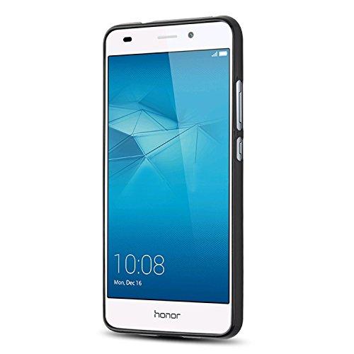 J&D Huawei Honor 5C Hülle, [Leichtgewichtig] [Fallschutz] Stoßfest TPU Slim Hülle für Huawei Honor 5C - Schwarz - 3