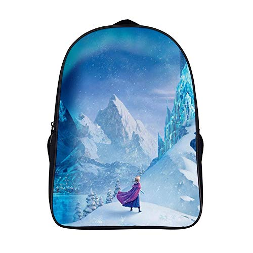 16.5 inches Backpackfor Frozen 2 fans, Anna Elsa (2),Unisex School Bookbags, Cute Laptop Bag,waterproof Casual Travel Hiking Camping daypack for Boys Girls Kids