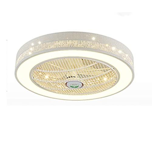 OPW Ventilador De Techo Moderno con Iluminación LED Y Control Remoto Ventilador LED Luz De Techo Ventiladores De Techo Silenciosos Invisibles Luces Dormitorio Sala De Estar Lámpara De Araña