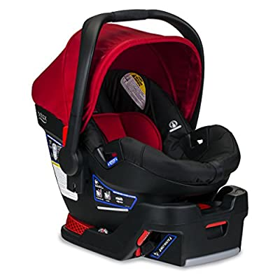 Britax B-Safe 35 Infant Car Seat - Rear Facing   4 to 35 Pounds - Reclinable Base, 1 Layer Impact Protection, Cardinal