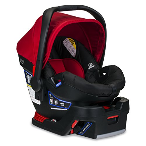 BRITAX B-Safe 35 Infant Car Seat - Rear Facing | 4 to 35 Pounds - Reclinable Base, 1 Layer Impact Protection, Cardinal (E1A728Z)