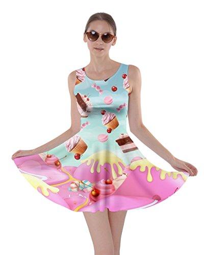 CowCow Womens Mint Dessert Hill Dessert Skater Dress, Mint - XL