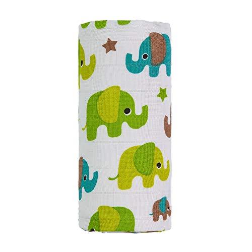 t-tomi TT 4406 olifanten Bio Big Bamboe handdoek, unisex child, groen, groot