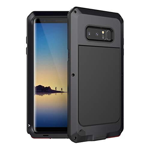 Beeasy Samsung Galaxy Note 8 Hülle,360 Grad Outdoor Handyhülle Handy Hülle Schutzhülle Robust Cover Armor Doppelte Schutzschicht Fallschutz Hybrid Rüstung Schlagfest Stoßfest Kratzfest Bumper,Schwarz