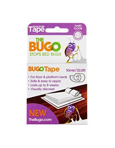 The Bugo The Klebeband 10 m Hartbodendetektor, Monitor und Falle für B, plastik, durchsichtig