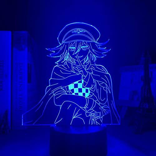 Luces LED Danganronpa Luz nocturna Kokichi Oma lámpara para textiles del hogar regalo infantil Danganronpa acrílico lámpara de mesa Kokichi Oma DUYAO00