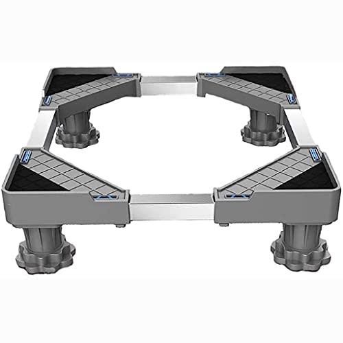 PHOOW Base del frigorífico Lavadora Base de zócalo Base Ajustable Marco de podio para secador Refrigerador 50-75cm Lavadora en construcción Soporte Multifuncional para lavavajillas - 400 kg