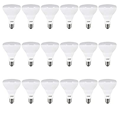 """Feit Electric BR30/10KLED/3/6 65W Equivalent 8.5 Watt 650 Lumen Non-Dimmable Recessed 18-Piece LED BR30 Flood Light Bulb, 5.4"""" H x 3.8"""" D, 2700K Soft White"""