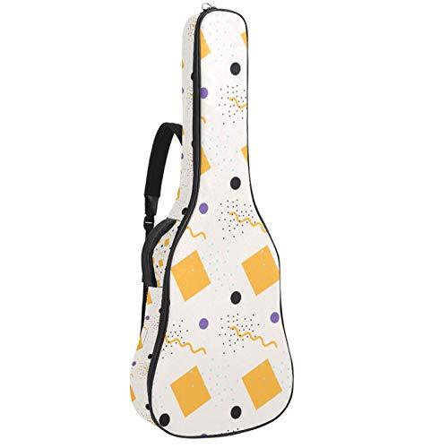 Bolsa para guitarra impermeable con cremallera suave para guitarra, bajo acústico y...