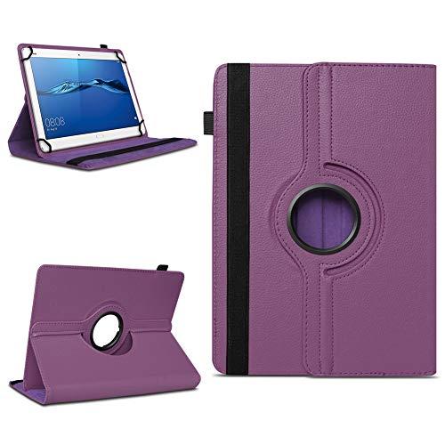 NAmobile Schutzhülle kompatibel für Huawei MediaPad T1 T2 T3 T5 10 Tablet Hülle Tasche Schutzhülle Hülle 360 Drehbar, Farben:Lila
