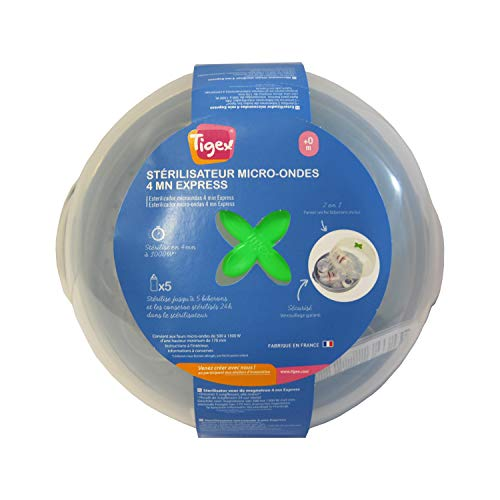 Tigex - Esterilizador de Vapor para Biberones Apto para...