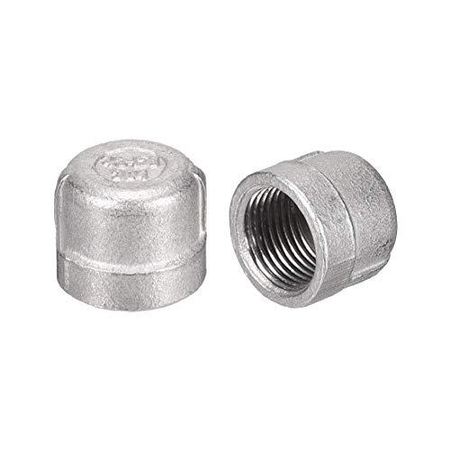 YeVhear - Tapón de manguera 3/8 pulgadas, 2 piezas PT3/8 conector hembra 304 de acero inoxidable
