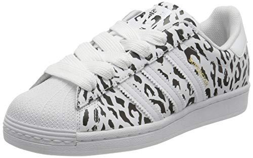 adidas Superstar, Sneaker Mujer, Footwear White/Core Black/Gold Metallic, 36 EU