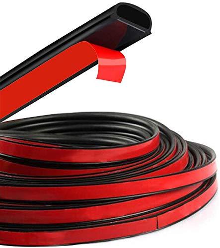HOTSYSTEM D-Shape Door Rubber Seal Strip Weatherstrip 3M Self Adhesive Hollow for Car Truck Motor Door Cover Trunk (Black, 26.25 feet)