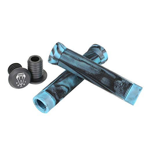 VOKUL Lenkergriffe für Pro Stunt Scooter/BXM Hand Griffe Fahrrad mit Lenkerenden, Lenkergriffe FahrradLänge 145 mm - 150 mm, Durchmesser 35 mm, 2PCS (Blau&Schwarz)