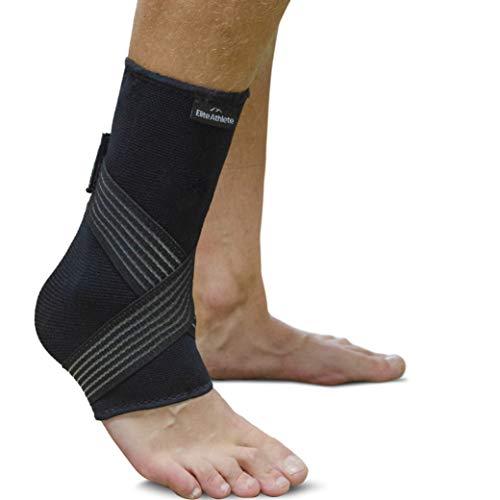 EliteAthlete Fußbandage - Premium Sprunggelenkbandage - Fußgelenk Bandage - Knöchelbandage, Fussbandagen für Damen & Herren mit extra Knöchelband