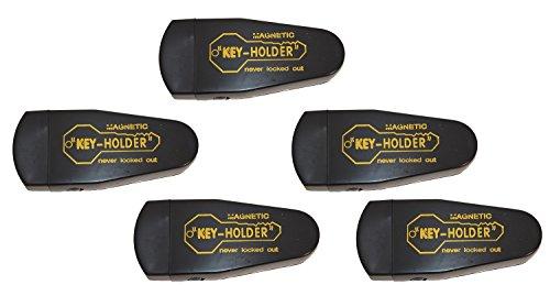 Lot of 5 Hide A Key Magnetic Storage Holder Under Car Spare Key Case Large Black