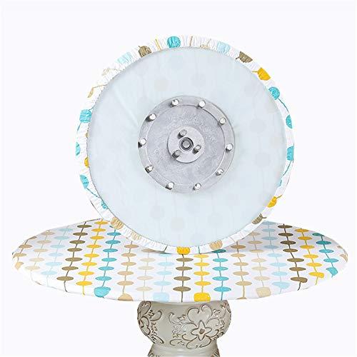 SYLC Mantel redondo impermeable, antideslizante, redondo para mesa circular, resistente al calor y fácil de limpiar (círculo de color, 170 cm)