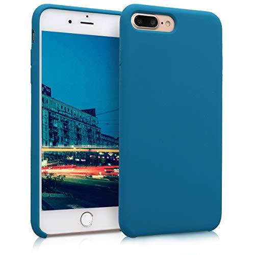 kwmobile Cover Compatibile con Apple iPhone 7 Plus   8 Plus - Cover Custodia in Silicone TPU - Back Case Protezione Cellulare Petrolio