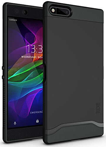 TUDIA Razer Phone Hülle, Slim-Fit Merge Dual Layer Schutzhülle für Razer Phone (2017 Version) (Matte Black)