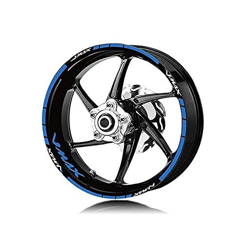 Protector DE Tanque Moto Para YAM-AH-A N-MAX NMAX125 155 N&M-AX pegatinas de rueda de motocicleta rayas reflectantes impermeables pegatinas de rueda de llanta conjunto de pegatinas Calcomanías de Moto