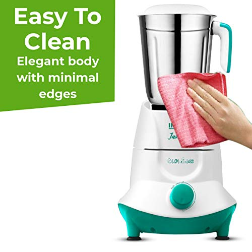 Inalsa Mixer Grinder Jazz Pro -550W with 3 Stainless Steel Jars ( White/Green )