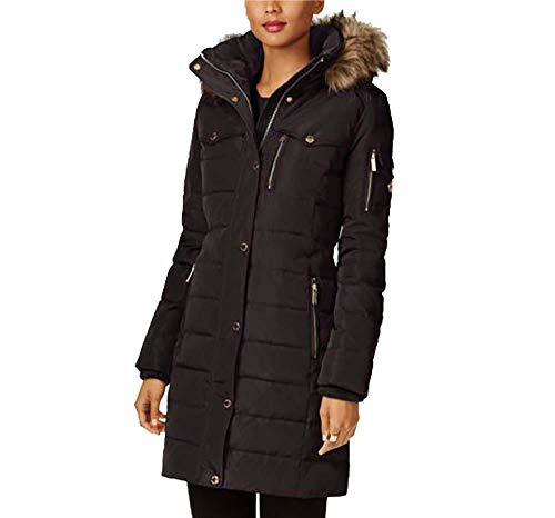Michael Kors Down Coat with Chest Pockets (XX-Large, Black)