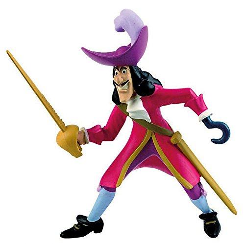 Bullyland 12651 - Spielfigur, Walt Disney Peter Pan, Kapitän Hook, ca. 10 cm groß, liebevoll handbemalte Figur, PVC-frei, tolles Geschenk für Jungen und Mädchen zum fantasievollen Spielen