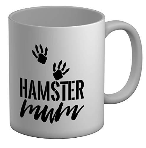 Shopagift Hamster Mum - Taza grande (325 ml), color blanco