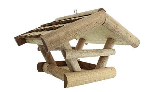 Vogelhaus Futterhaus Vogelvilla Vissel aus Echtholz Dach aus Echtholzschindeln