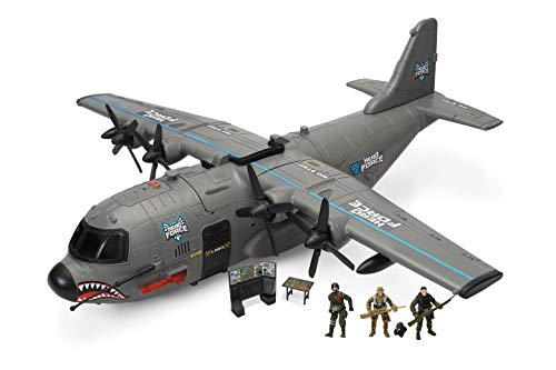 Hero Force Shark Cargo Plane | Includes 3 Action Figures | Real Working Lights,...