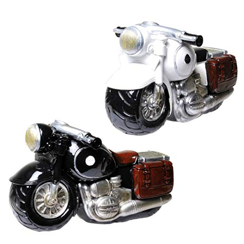 Udo Schmidt Hucha de moto en estilo antiguo negro o blanco para una moto o vacaciones (blanco, 1)