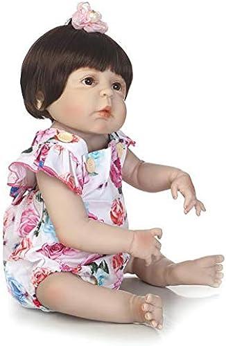 CHENG Baby Reborn Puppen Augen  nen Weißes Vinyl Silikon Wachstum Partner Kind